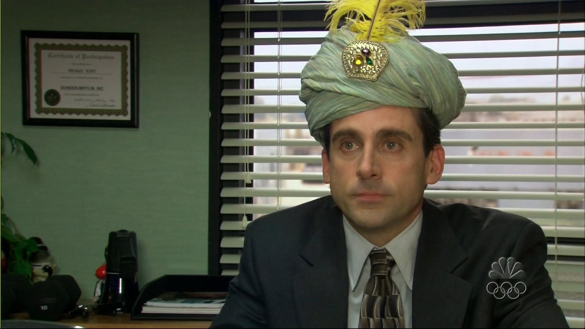 michael scott the office gaudy turban fall bucket list autumn fun days